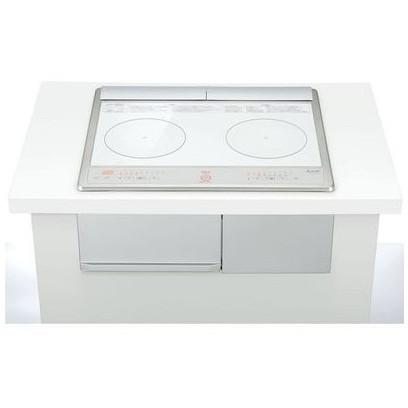 【送料無料】MITSUBISHI CS-G217DXR ホワイト [ビルトインIHクッキングヒーター (60cm幅・IH2口・単相200V)]