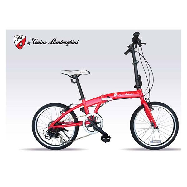 【送料無料】ランボルギーニ TL-212-RD レッド [折りたたみ自転車 (7段変速 20インチ)]【同梱配送不可】【代引き不可】【本州以外の配送不可】