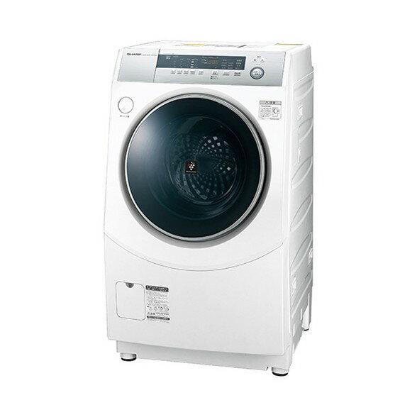 【送料無料】シャープ 洗濯機 ドラム式 ES-H10B-WR ホワイト系 右開き ななめ型 洗濯乾燥機 洗濯10kg 乾燥6kg 省エネ 節水 プラズマクラスター 消臭 静か 低騒音 こすり洗い マイクロ高圧洗浄 SHARP