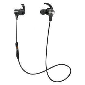 TaoTronics タオトロニクス ブルートゥ−ス イヤホン 人気 Bluetooth 高音質 4.1ステレオ 軽量 ワイヤレス スマートホン iPhone ハンズフリー 通話対応 低音 スポーツ ランニング ジョギング マグネット ネックレス マイク ランニング 黒 ブラック TT-BH07