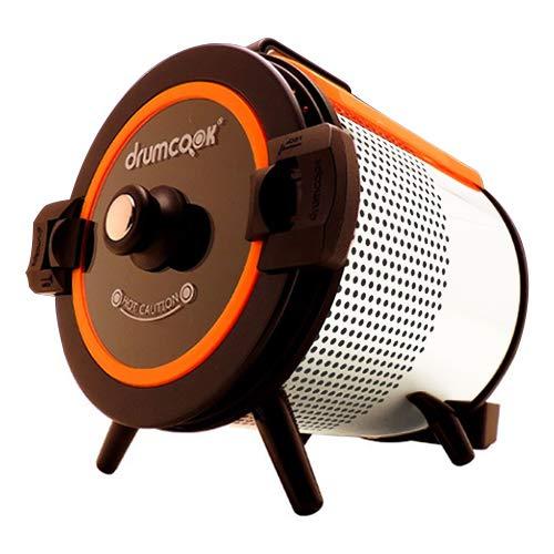 (レビューを書いてプレゼント!実施商品〜1月29日まで)テドンF&D(Daedong F&D co.LTD) DR-750N-W (限定カラー:ホワイト&オレンジ) ドラムクック(drumcook) [自動調理器] 煮る 焼く 炒める 回転 ドラム式 スチーム ヘルシー調理 やきいも 焼き栗 鶏の丸焼き DR750N (TUF)