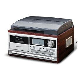 VERSOS(ベルソス) VS-M009 ブラウンウッド [マルチレコードプレーヤー] CD LP アナログ→デジタル化録音(USBメモリ カセットテープ SD/MMCカード) ラジオ リモコン付き VSM009
