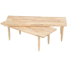 【送料無料】センターテーブル ツインセンターテーブル テーブル ローテーブル リビングテーブル 天然木 ナチュラル 北欧 おしゃれ 木製 回転
