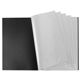 VERSOS(ベルソス) VS-Z01-BK ブラック [B2ポスターファイル] 12ポケット(24枚収納) デザイン デッサン 下書き 下絵 新聞 などの収納 CD特典のポスター収納 コレクション 折り曲げ不可資料 大きいサイズ