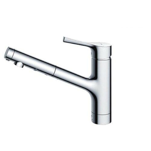 TOTOTKS05305JGGシリーズ(台所用水栓)[シングル混合水栓(ハンドシャワー・吐水切り替えタイプ・台付き1穴)]