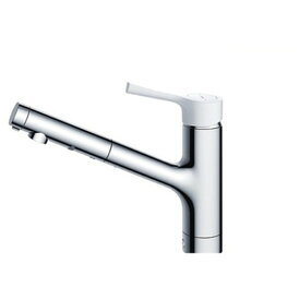 TOTO TKS05306J GGシリーズ (台所用水栓) [シングル混合水栓 (ハンドシャワー・吐水切り替えタイプ・台付き1穴・樹脂ハンドル)]