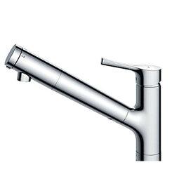 TOTO TKS05308Z GGシリーズ (台所用水栓) [シングル混合水栓 (浄水器兼用ハンドシャワー・吐水切り替えタイプ・台付き1穴・寒冷地用)]