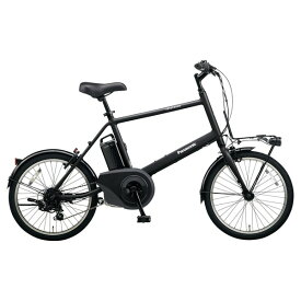 PANASONIC BE-ELVS072-B ミッドナイトブラック ベロスター・ミニ [電動アシスト自転車(20インチ・外装7段変速)] メーカー直送