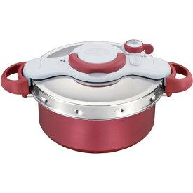 圧力鍋 ティファール 鍋 IH対応 ギフト 2in1 5.2L ワンタッチ開閉 時短 煮込み 炒めもの 簡単 T-fal P4605136 レッド クリプソ ミニット デュオ 調理器具 料理