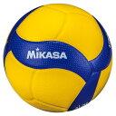 MIKASA V300W ブルー/イエロー [バレーボール5号 検定球 国際公認球]