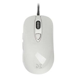 Dream Machines ドリームマシーンズ ゲーミングマウス DM1 FPS - Pearl White 6ボタン シューレースケーブル 12000DPI FPS MOBA dm-dm1-fps-white-glossy