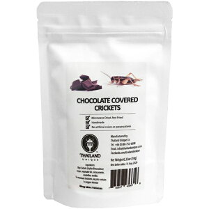 JR UNIQUE FOODS Chocolate coated big crickets (チョコレートコオロギ 10g) tiu2002