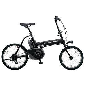 PANASONIC BE-ELW073A-B マットブラック×ブラック オフタイム [電動アシスト自転車(18/20インチ・外装7段)] メーカー直送