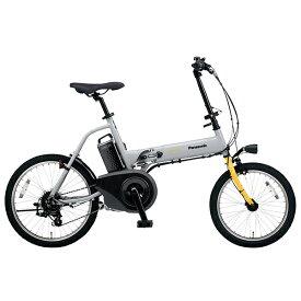 PANASONIC BE-ELW073A-N グレー×イエロー オフタイム [電動アシスト自転車(18/20インチ・外装7段)] メーカー直送