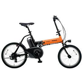 PANASONIC BE-ELW073A-K オレンジ×ブラック オフタイム [電動アシスト自転車(18/20インチ・外装7段)] メーカー直送