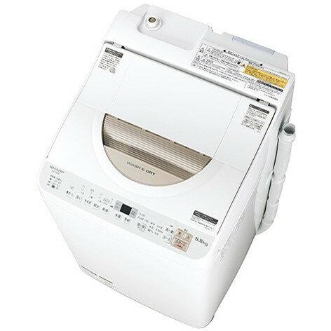【送料無料】SHARP ES-TX5B ゴールド系 [洗濯乾燥機 (洗濯5.5kg/乾燥3.5kg/ヒーター乾燥機能付)]
