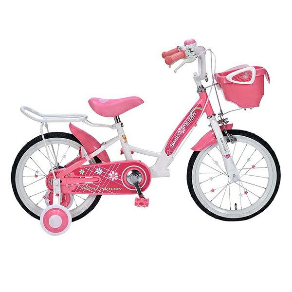 【送料無料】マイパラス MD-12 ピンク [子供用自転車(16インチ)補助輪付き]【同梱配送不可】【代引き不可】【本州以外配送不可】