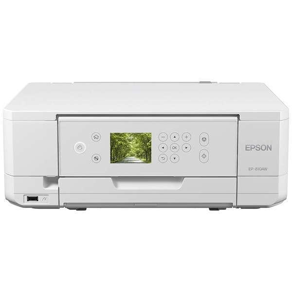 【送料無料】EPSON EP-810AW ホワイト Colorio(カラリオ) [インクジェット複合機(A4カラープリント対応・コピー/スキャナ)]