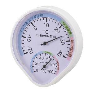 オーム電機 TEM-500-W [温湿度計(快適表示付き 壁掛けタイプ)]