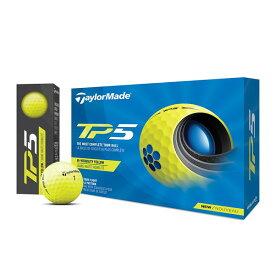 テーラーメイド TP5 ゴルフボール 2021年モデル 1ダース(12個入り) イエロー 【日本正規品】