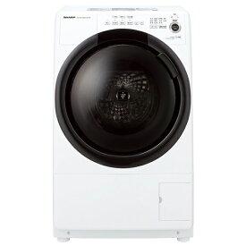 SHARP ES-S7F-WL ホワイト系 [ドラム式洗濯乾燥機 (洗濯7.0kg/乾燥3.5kg) 左開き]
