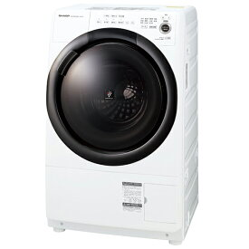 SHARP ES-S7F-WR ホワイト系 [ドラム式洗濯乾燥機 (洗濯7.0kg/乾燥3.5kg) 右開き]