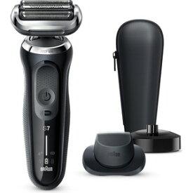 BRAUN ブラウン 70-N4200cs ノワールブラック 黒 シリーズ7 メンズシェーバー 往復式 3枚刃 充電式 純正品 ひげ剃り 完全防水 丸洗い可 風呂剃り対応 シェービング剃り 根元 深剃り 肌にやさしい 密着 パワフル