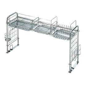 KS-2712 [キチンとキッチン収納ラック(組立式)] 杉山金属 スライド式 水切り キッチン用品 収納