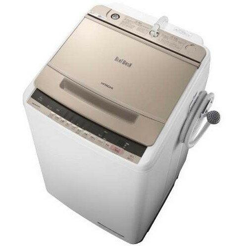 【送料無料】日立 BW-V80C(N) シャンパン ビートウォッシュ [全自動洗濯機(8.0kg)]