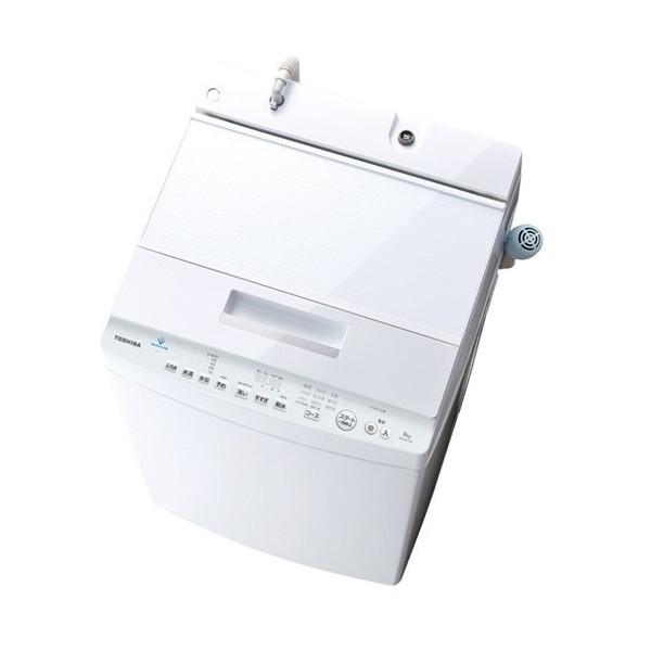 【送料無料】東芝 AW-8D7 グランホワイト ZABOON [簡易乾燥機能付洗濯機(8.0kg)]