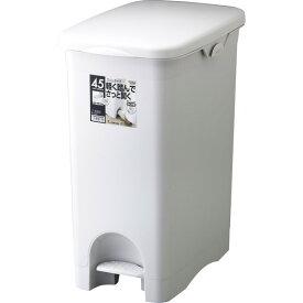 【送料無料】リス ゴミ箱 抗菌加工 H&H ペタルペール 45PS スリム グレー