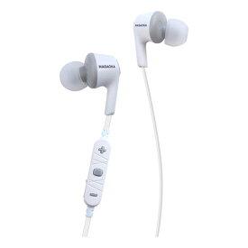 nagaoka ナガオカ BT807WGR ホワイトグレー ブルートゥース カナル型ワイヤレスイヤホン ネックバンド Bluetooth対応