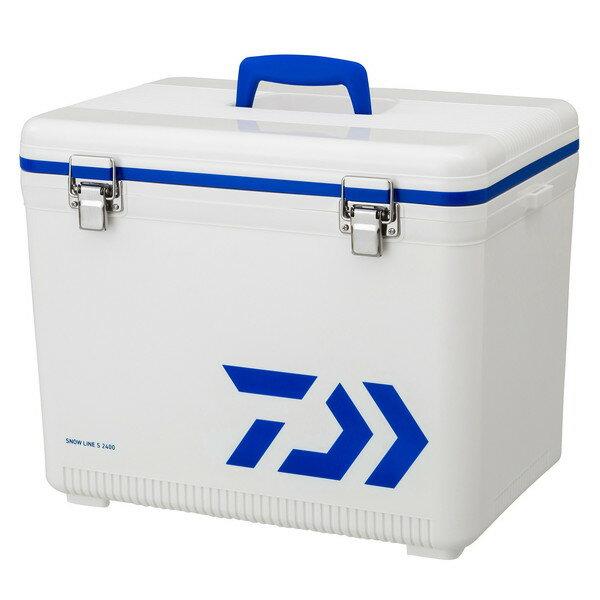 【送料無料】DAIWA スノーライン S 2400 WH/BL ホワイト/ブルー [釣り用 クーラーボックス(24L) 水栓付き]