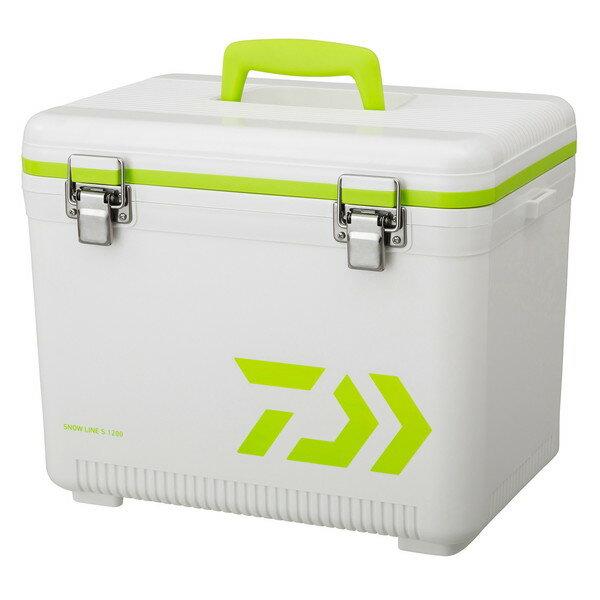 【送料無料】DAIWA スノーライン S 1200 WH/LG ホワイト/ライムグリーン [釣り用 クーラーボックス(12L) 水栓付き]
