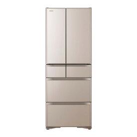 【送料無料】日立 R-XG56J(XN) クリスタルシャンパン 真空チルド [冷蔵庫 (555L・フレンチドア)] 【代引き・後払い決済不可】【離島配送不可】