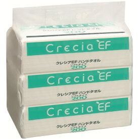 クレシアEF ハンドタオル ソフトタイプ 2枚重ね 200組(400枚)×3パック