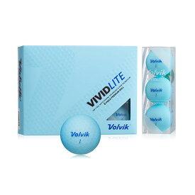 VOLVIK(ボルビック) ゴルフボール VIVIDLITE(ビビッドライト) 1ダース(12個入り) ブルー 【日本正規品】