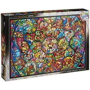 テンヨー 1000ピース ジグソーパズル ディズニー オールスター ステンドグラス ステンドアート(51.2x73.7cm)