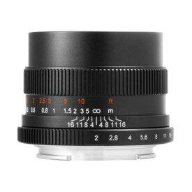 七工匠 7Artisans 35mm F2 ブラック フジフイルムX [交換レンズ(フード組込)]