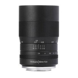 七工匠 7Artisans 60mm F2.8 Macro ブラック フジフイルムX [交換レンズ]