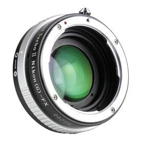 中一工学 Lens Turbo II N/G-FX [フォーカルレデューサー マウントアダプター(ニコンFマウント(Gシリーズ対応)レンズ → 富士フイルムXマウント)]