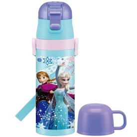 スケーター マグボトル 子供用 2WAY ステンレス水筒 コップ付き アナと雪の女王 19 ディズニー 430ml SKDC4