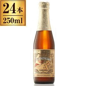 リンデマンス ピーチ 250ml ×24 【 輸入ビール ベルギー ランビック フルーツ ビール 桃 】