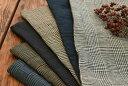 ●40番手 リネン 100% 先染め グレンチェック生地 ワッシャー加工 6色展開■クラシカルな雰囲気のグレンチェック生地…