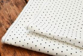 ●60番手 ハードマンズリネン生地 ドットプリント 無地《ホワイト》■イギリスの伝統あるリネン紡績メーカーであるHerdmans社の糸を使用したリネン生地なります。【 リネン 生地 】【 リネン生地 】【 リネン ドット 】【 ドット 生地 】