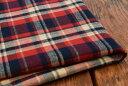 ●起毛 コットン生地 先染め綾織 ビエラ チェック生地《レッド》■表起毛を施している秋冬チェック生地になります。【…