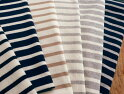 145cm広幅20/2双糸天竺マリンテイストボーダーニット生地6色展開■マリンテイストにはかかせないボーダーニット。《ネイビー》《オフホワイト》《杢グレー》《ベージュ》