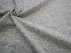 40/2 170cm幅ガーゼ天竺ニット 無地《杢グレー》■40番手の糸で編まれたニットです。さらりとした肌触りの良い生地となっております♪