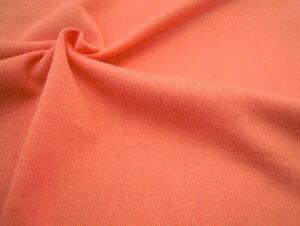 広幅155cm コットン 16/2天竺ニット生地 シャーベットカラー無地《レッドオレンジ》■しっかりした生地感の天竺ニットが入荷してきました♪かわいいシャーベットカラーになります★
