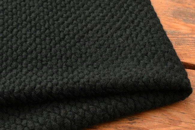 ●140cm幅 ポップコーン ニット生地 ウール混 《ブラック》■表面がポップコーンのようなポコポコとした触り心地の良いウールニットです♪【 ニット 生地 】【 ニット ポップコーン 】【 ニット ウール 】【 ウール 生地 】
